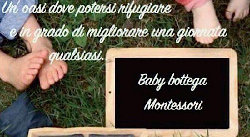 BabyBottega Montessori, a settembre l'inaugurazione